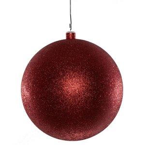 basis bal ca 15cm rood glitter
