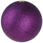 basis bal ca 10cm glitter lila paars