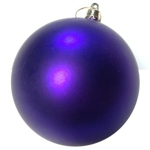 basis kerstbal ca 10cm mat paars