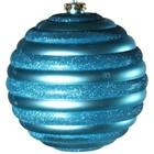 kerstbal horizontaal ca. Ø15cm lichtblauw