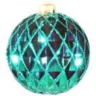 kerstbal ruit ca 15cm lichtgroen
