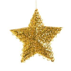 ster met kralen goudkleurig