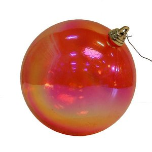 kerstbal oliebal ca 10cm oranje roze rood