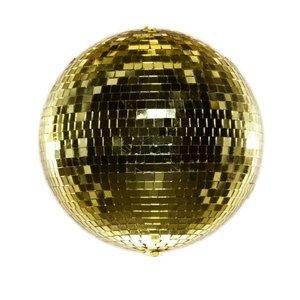 discobal spiegelbol goud ca 20cm