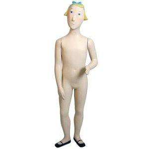 paspop kind fantasie meisje 120cm wit