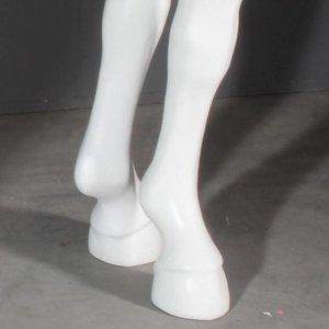 Tafelpoot vorm paardenbeen laag per 4 wit