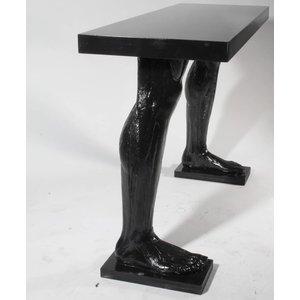 Tafel met twee benen zwart
