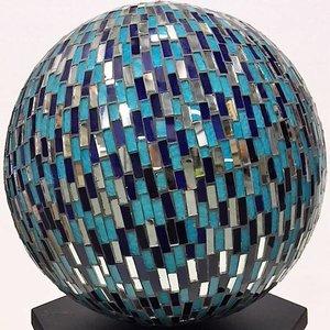 Bal blauw met spiegels