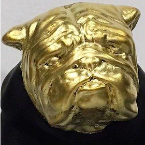 Bull dog zwart goud