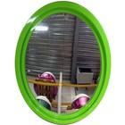 spiegel ovaal XL groen