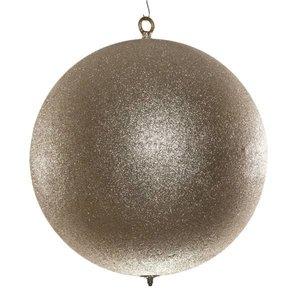 basis kerstbal glitter zilver ca. 12cm