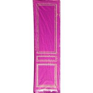 doek deurpaneel ca. 80 x 250cm donker lila