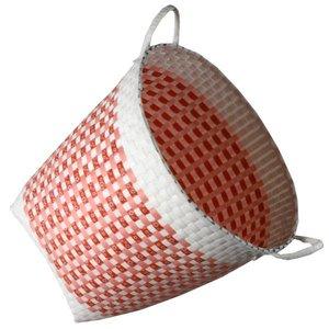 mand wit roze rood rond hoog ca. 40 x 40cm