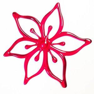 bloem ster rood koziol per 5