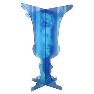 perspex vaas blauw in twee delen