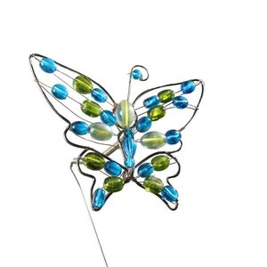 vlinder ca. 12 x 12cm blauw groen