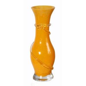 vaas oranje in vorm ca 20cm