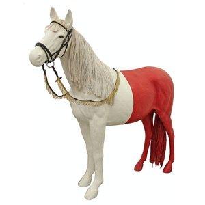 Paard wit paarse achterzijde