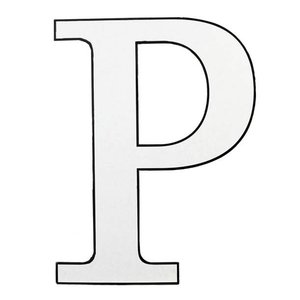 Letter P wit karton