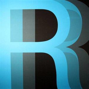 doek letter R zwart blauw