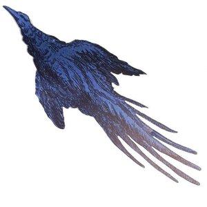 vogel blauw beide zijden bedrukt