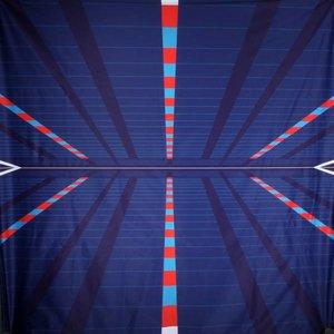 doek sport donkerblauw ca.350 x 250cm