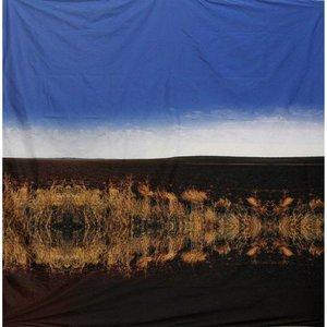 doek riet spiegeling lucht ca. 225 x 225cm