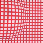 doek wit/rood ruit, 225 x 225cm