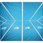 doek sport getallen lichtblauw ca.225 x 225cm