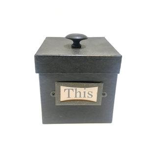Set dozen met deksel en etiket