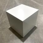 Houten kubus wit