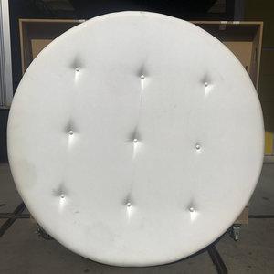 Decoratieve cirkel wit kunstleer