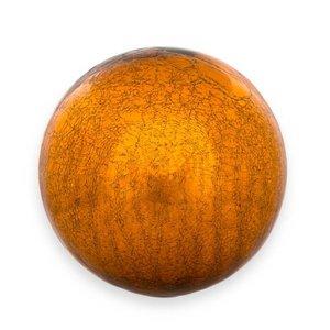 heksenbal ca 25cm craquelé goudkleurig glas