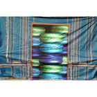 Doek deuropening macarons 350 x 250cm blauw