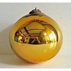 Heksenbol 30cm goudkleurig glas