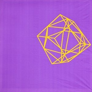 Doek lila geel frame ca 225 x 225cm