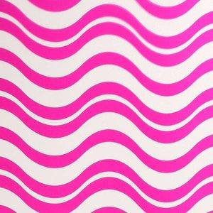 Doek golf roze ca 225 x 225cm