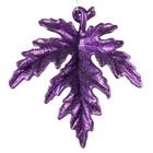Blad lila met glitter ca 11cm kerst decoratie