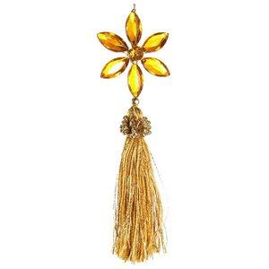 Bloem geel hart geel staart goud ca 18cm