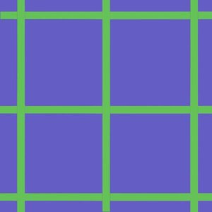 Doek blauw strepen groen ca 25 x 225cm