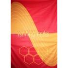 doek winning looks oranje rood ca. 157 x 225cm