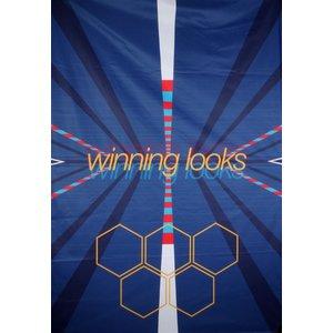 Doek winning looks blauw ca 157 x 225cm