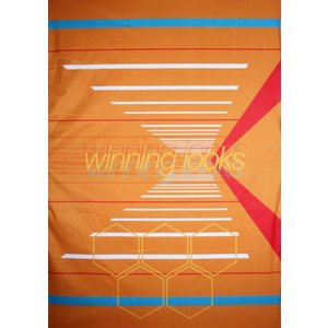 Doek winning looks ca 157 x 225cm oranje blauw