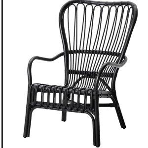 Rotan stoel zwart