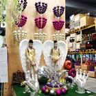 kroonluchter ballen paars