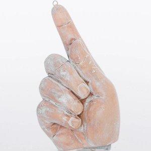 Hand met wijsvinger