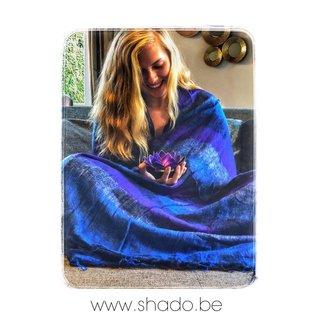 Meditatie deken XL Paars-Blauw 115x245cm