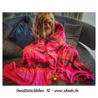 Meditatie deken XL Rood-Oranje 115x245cm