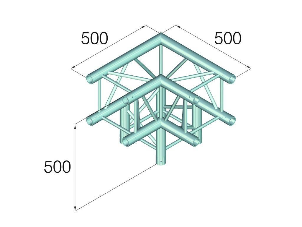 ALUTRUSS ALUTRUSS QUADLOCK GL400-C30 3-Way Corner 90°