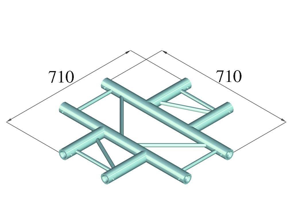 ALUTRUSS ALUTRUSS BILOCK E-GL22 C41-H 4-Way Cross